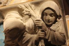 Ruth bij het Maria-altaar van de nieuwe Bavo.