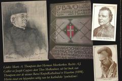 Collage met betrekking tot het boek over de nieuwe Bavo van Marie A. Thompson. bvhh.nu 2021.