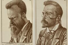Joseph Cuypers en Jan Stuyt getekend door Theo Molkenboer (1898).